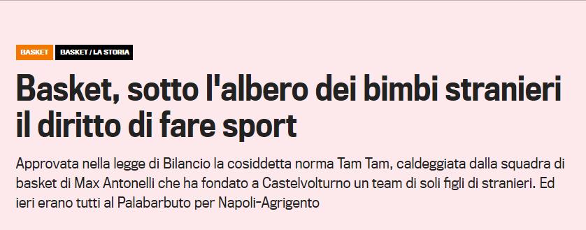 Tam Tam Basket Gazzetta